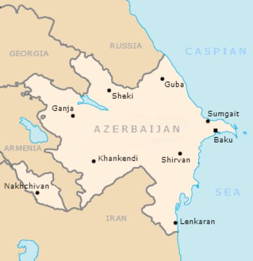 azerbaijanrepublicmap